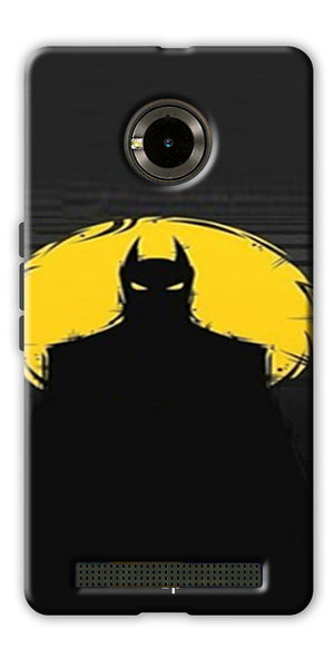 Digiprints Dark Knight Printed Back Case Cover For Yu Yunique