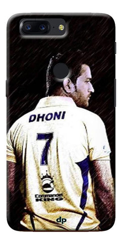 Digiprints Ms Dhoni Art Printed Back Case Cover For OnePlus 5T