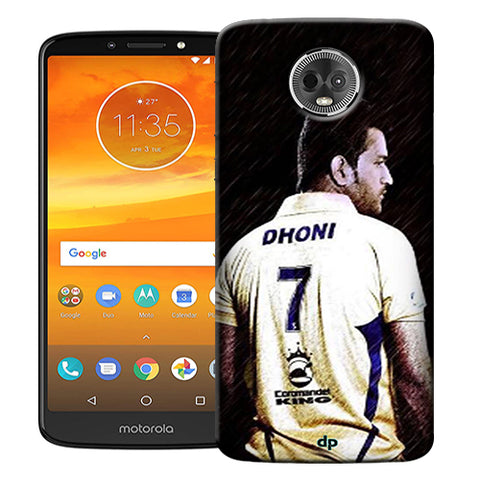 Digiprints Ms Dhoni Art Printed Back Case Cover For Motorola Moto E5 Plus