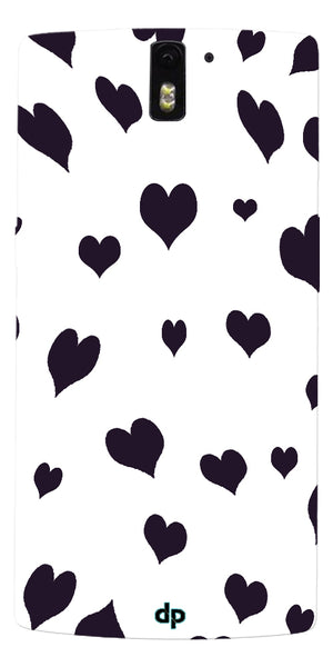 Digiprints Small Heart Printed Designer Back Case Cover For OnePlus One
