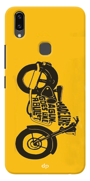 Bullet Lover Printed Back Case Cover For Vivo V9