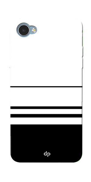 Digiprints Black White Beautiful Pattern Printed Back Case Cover For LG Q6