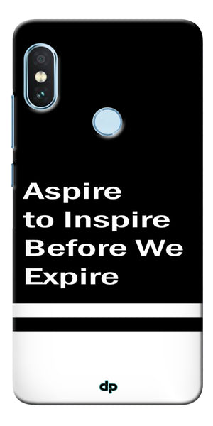 Aspire To Inspire Printed Back Case Cover For Xiaomi Redmi Note 5 Pro