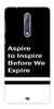 Digiprints Aspire To Inspire Printed Back Case Cover For Nokia 8