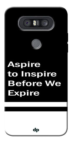 Aspire To Inspire Printed Back Case Cover For LG Q8