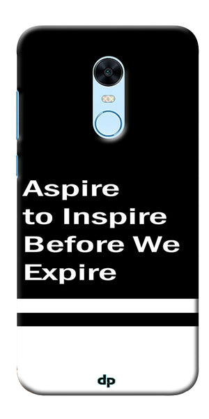 Aspire To Inspire Printed Back Case Cover For Xiaomi Redmi Note 5