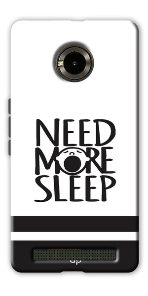 Digiprints Need More Sleep Printed Designer Back Case Cover For Yu Yunique