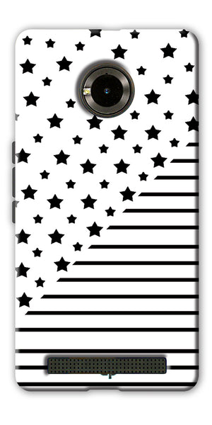 Digiprints Star And Strips On White Printed Back Case Cover For Yu Yuphoria