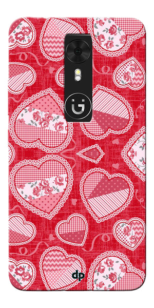 Digiprints Beautiful Pink Heart Design Printed Back Case Cover For Gionee A1