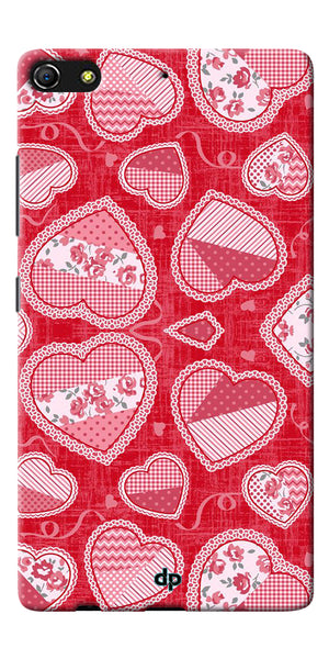 Digiprints Beautiful Pink Heart Design Printed Back Case Cover For Gionee Elife S7