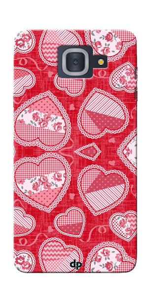Digiprints Beautiful Pink Heart Design Printed Back Case Cover For Samsung Galaxy J7 Max