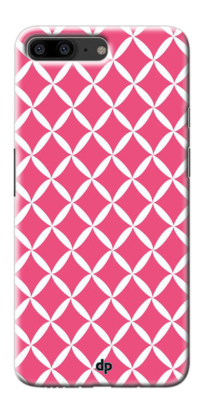 Digiprints Pink Pattern Printed Back Case Cover For OnePlus 5