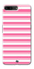 Digiprints Pink And White Strips Printed Back Case Cover For OnePlus 5