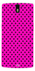 Digiprints Black Dotted Design Pink Printed Back Case Cover For OnePlus One