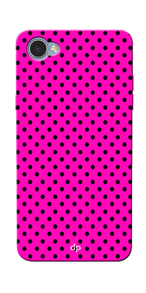 Digiprints Black Dotted Design Pink Printed Back Case Cover For LG Q6