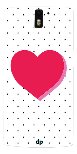 Digiprints Pink Heart Printed Back Case Cover For OnePlus One
