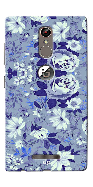 Digiprints Beautiful Blue Flowers Vector Design Back Case Cover For Gionee S6s
