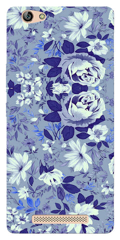 Digiprints Beautiful Blue Flowers Vector Design Back Case Cover For Gionee Marathon M5