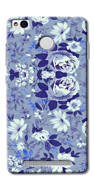 Digiprints Beautiful Blue Flowers Vector Design Back Case Cover For Xiaomi Redmi 3S Prime