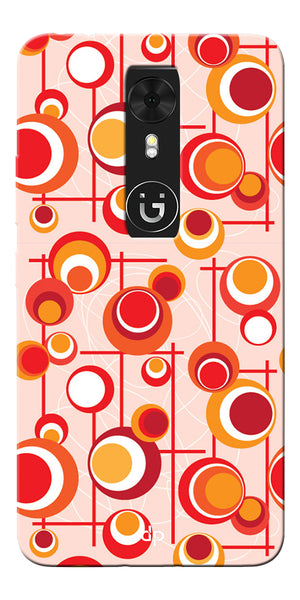 Digiprints Beautiful Geometric Patterns Back Case Cover For Gionee A1