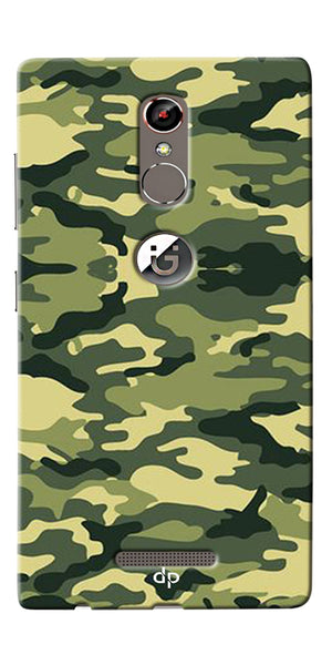 Digiprints Army Pattern Back Case Cover For Gionee S6s