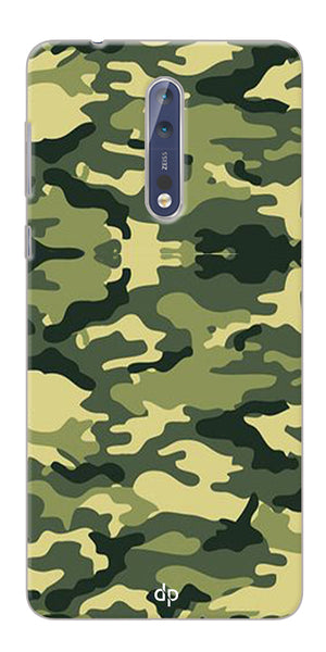 Digiprints Army Pattern Back Case Cover For Nokia 8