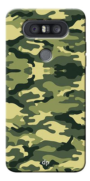 Army Pattern Back Case Cover For LG Q8