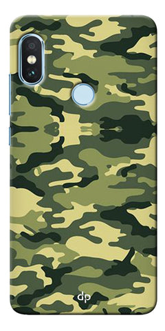Army Pattern Back Case Cover For Xiaomi Redmi Note 5 Pro
