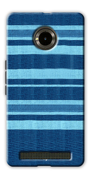 Digiprints Blue Denim Pattern Back Case Cover For Yu Yunique