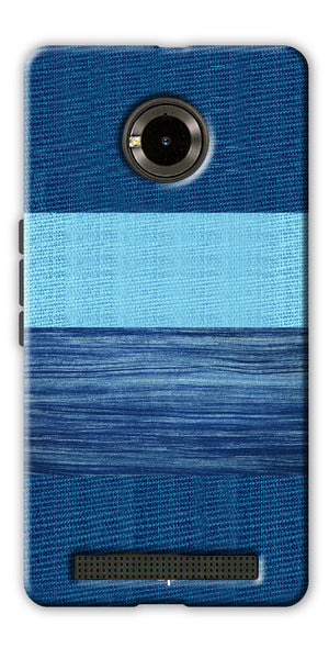 Digiprints Big Blue Denim Pattern Back Case Cover For Yu Yunique