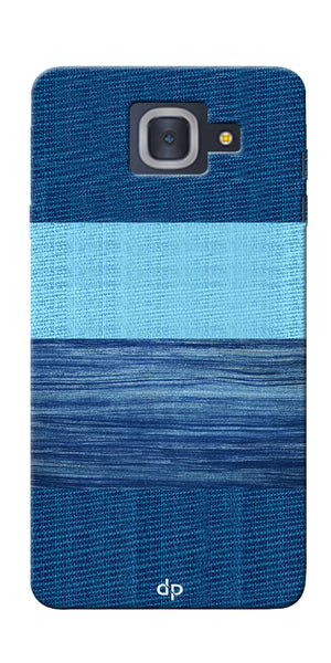 Digiprints Big Blue Denim Pattern Back Case Cover For Samsung Galaxy J7 Max