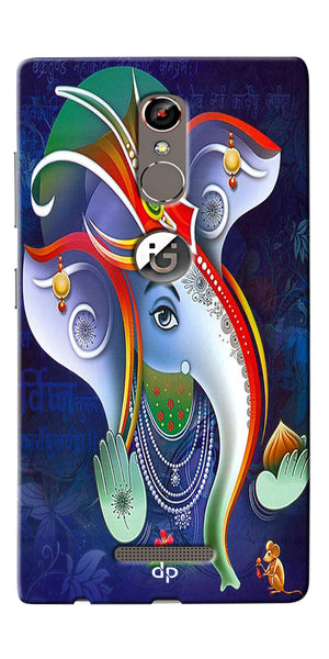 Digiprints Lord Ganesha Back Case For Gionee S6s