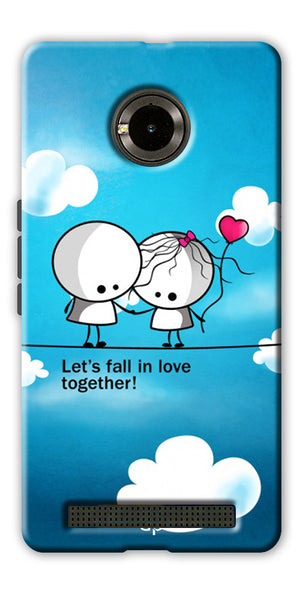 Digiprints Let'S Fall In Love Together Back Case Cover For Yu Yunique