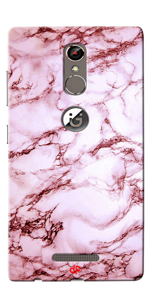 Digiprints  Pink Marble Textured Printed Case Cover For Gionee S6s