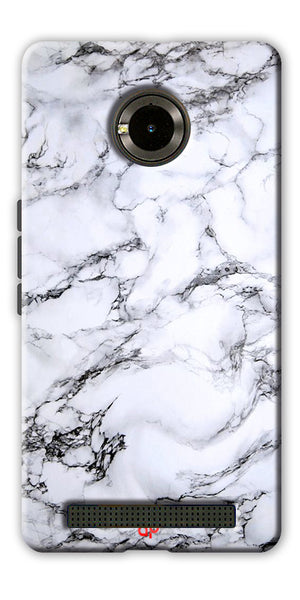 Digiprints  Marble Textured 8 Printed Case Cover For Yu Yuphoria