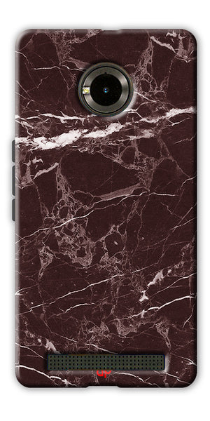 Digiprints  Marble Textured 9 Printed Case Cover For Yu Yuphoria