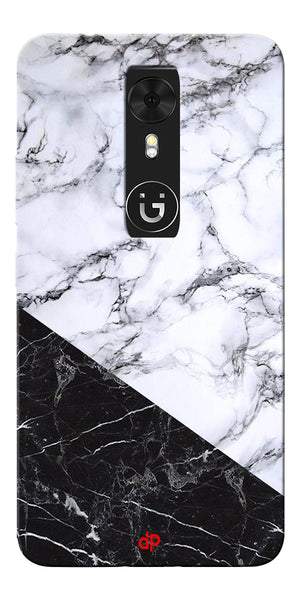 Digiprints  Marble Textured With Black Marbel Artprinted Case Cover For Gionee A1