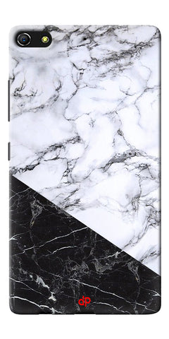 Digiprints  Marble Textured With Black Marbel Artprinted Case Cover For Gionee Elife S7
