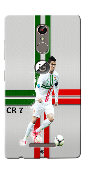Digiprints  Cr7 Printed Back Case For Gionee S6s
