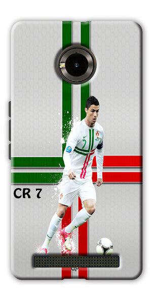 Digiprints  Cr7 Printed Back Case For Yu Yuphoria