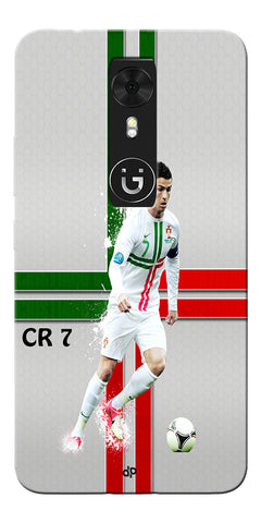 Digiprints  Cr7 Printed Back Case For Gionee A1