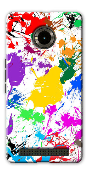 Digiprints  paint splash Printed Designer Back Case Cover For Yu Yuphoria