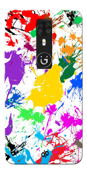 Digiprints  paint splash Printed Designer Back Case Cover For Gionee A1