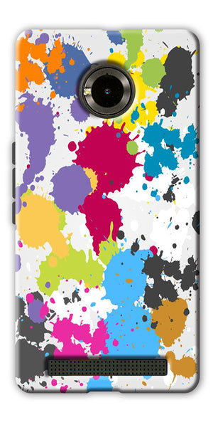 Digiprints  paint slatter Printed Designer Back Case Cover For Yu Yuphoria