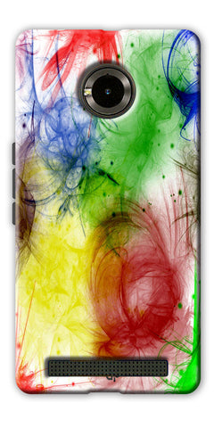 Digiprints  color art Printed Designer Back Case Cover For Yu Yuphoria