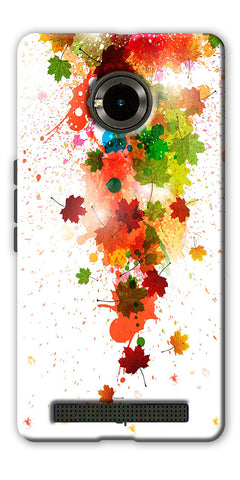 Digiprints  paint splatter Printed Designer Back Case Cover For Yu Yuphoria