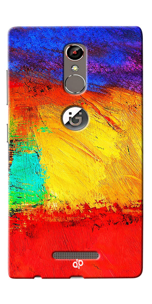 Digiprints ColorFull background Printed Designer Back Case Cover For Gionee S6s