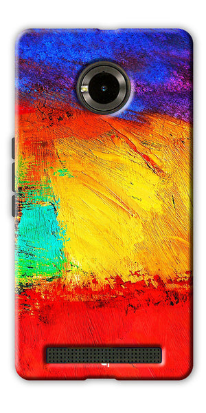 Digiprints ColorFull background Printed Designer Back Case Cover For Yu Yunique