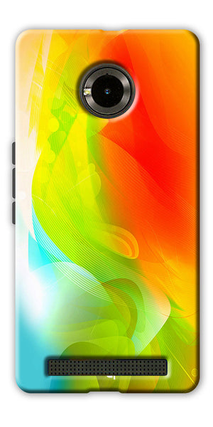Digiprints  ColorFull Printed Designer Back Case Cover For Yu Yuphoria