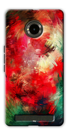 Digiprints  abstract swirl Printed Designer Back Case Cover For Yu Yuphoria